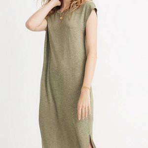 Madewell Muscle Midi Dress in Sweet Pine Heather